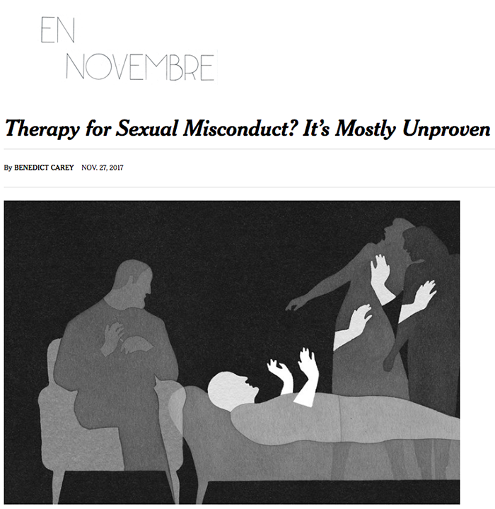 Therapy for sexual misconduct